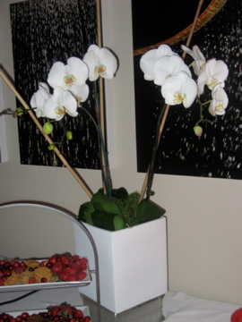 orchid flower arrangement, uncouth gourmands, UGs